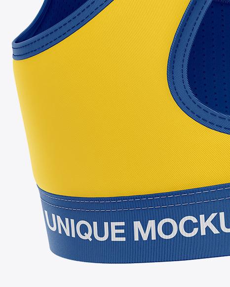 Women's Sports Bra Mockup - Back View