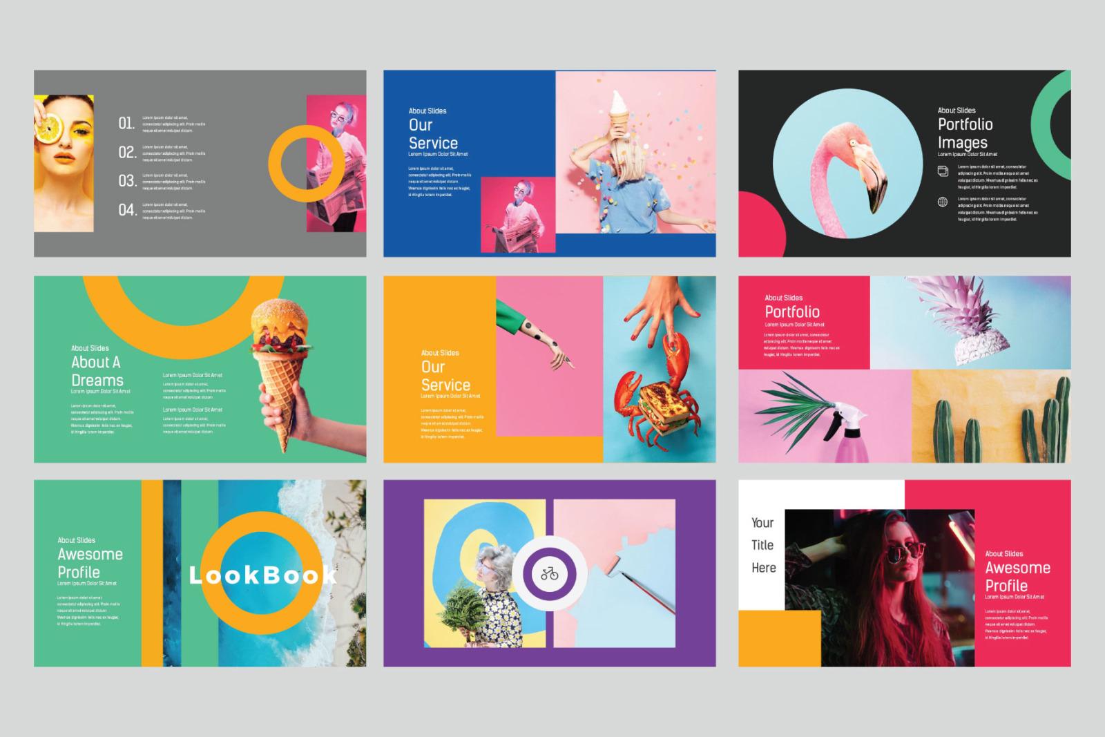 LookBook Pastel Keynote
