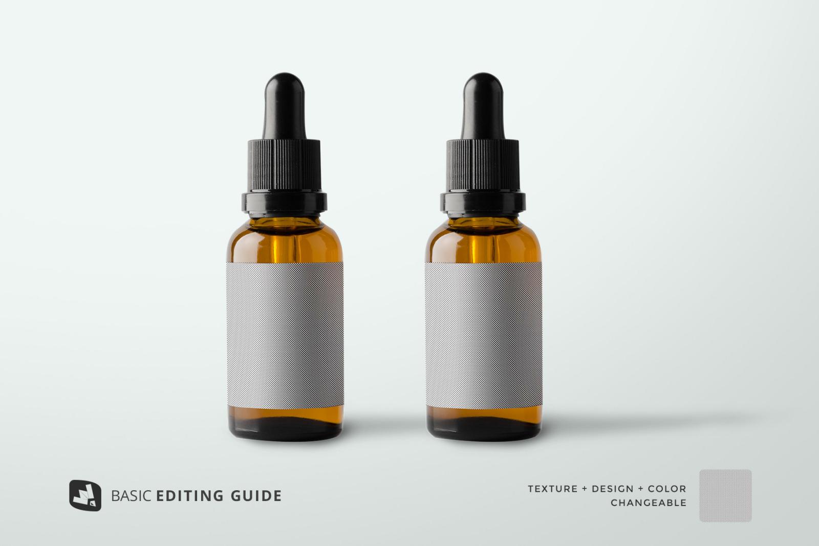 Essential Oil Bottle Packaging Mockup