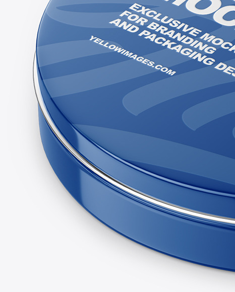 Download Round Tin Can Mockup In Can Mockups On Yellow Images Object Mockups PSD Mockup Templates