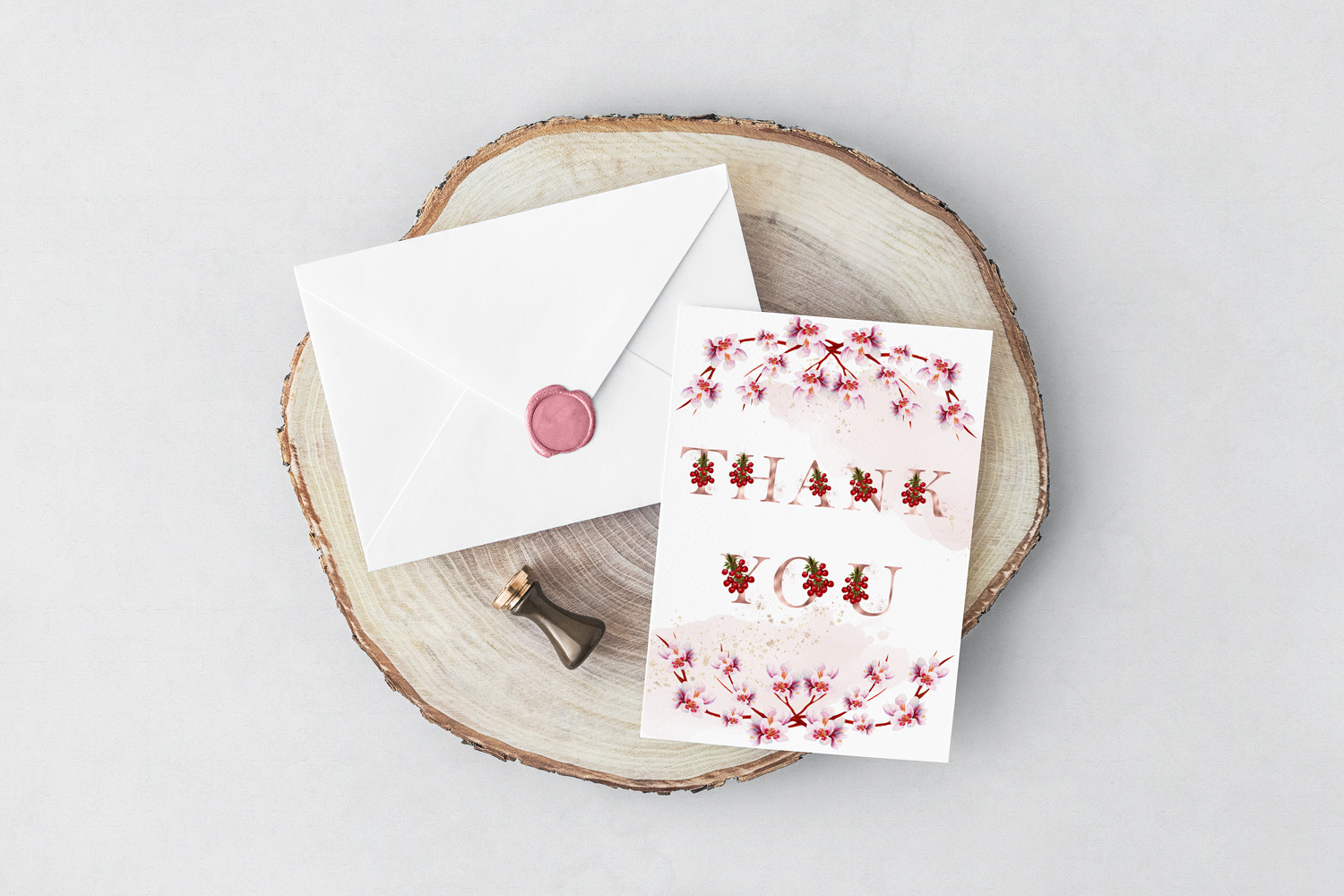 Rose Gold Cherry Alphabet and Numbers