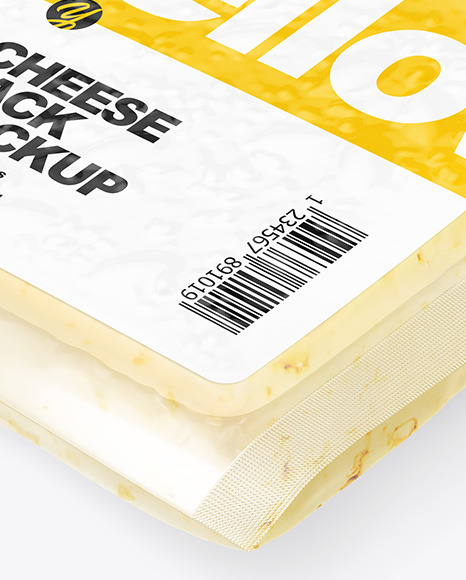 Download Cheese Pack Mockup Front Back View PSD - Free PSD Mockup Templates