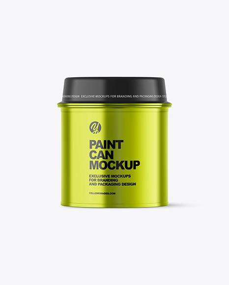 Metallic Paint Can Mockup