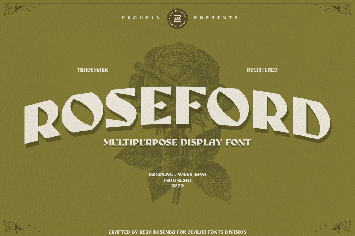 ROSEFORD - MULTIPURPOSE VINTAGE DISPLAY FONT