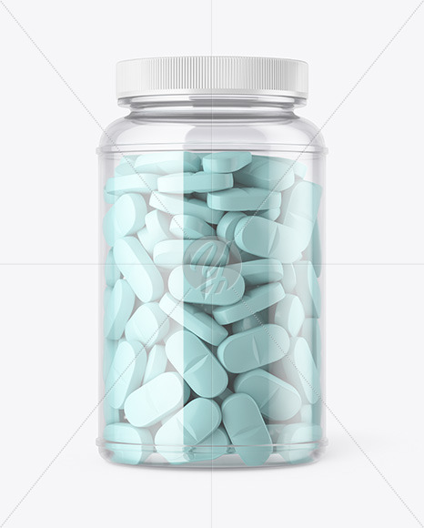 Download Clear Pills Bottle Mockup In Bottle Mockups On Yellow Images Object Mockups Yellowimages Mockups