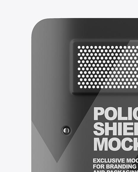 Police Shield Mockup