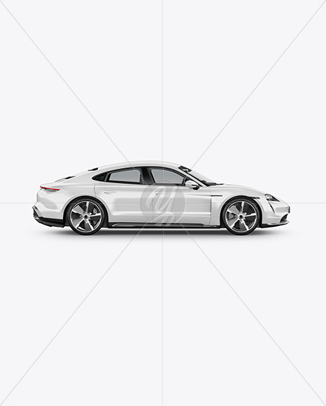 Electric Sport Car Mockup - Side View - Yellowimages Mockups