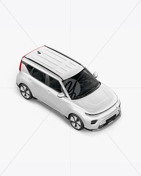Compact Car Mockup - Top Half Side View - Yellowimages Mockups
