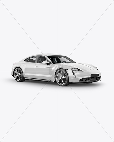 Download Electric Sport Car Mockup Halfside View In Vehicle Mockups On Yellow Images Object Mockups PSD Mockup Templates