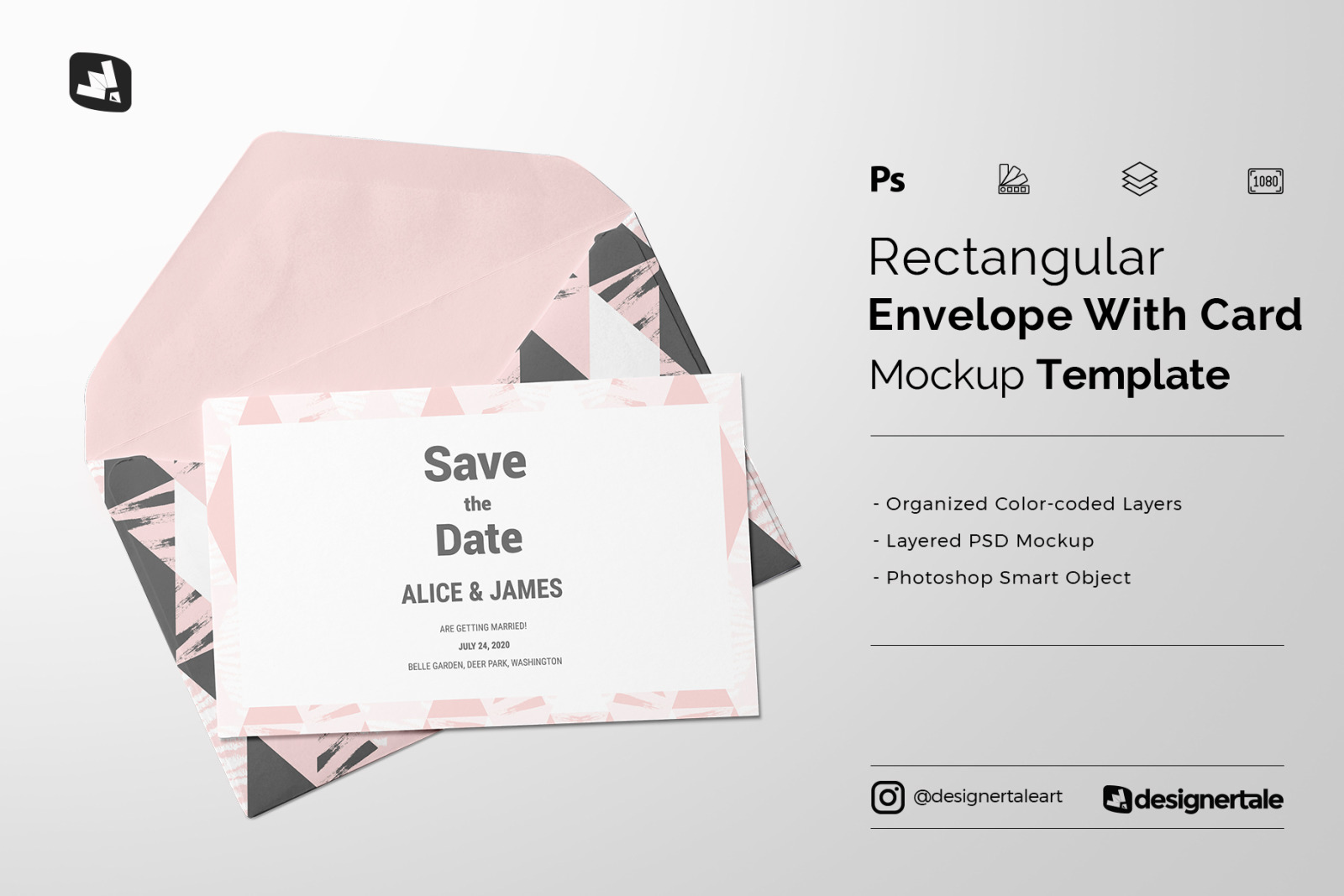 Download Rectangular Envelope Card Mockup In Stationery Mockups On Yellow Images Creative Store PSD Mockup Templates