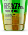 Fruit Bubble Tea Cup Mockup