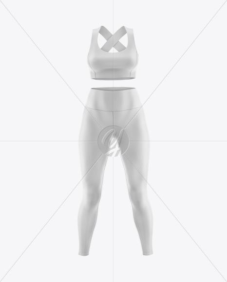 Women's Plus Size Fitness Kit Mockup