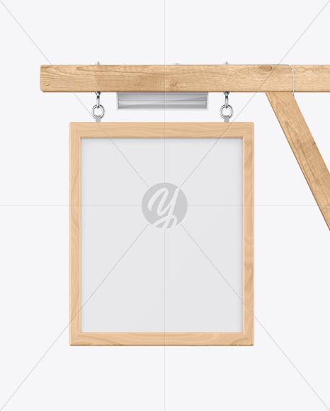 Wooden Sign Mockup