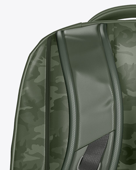 Backpack Mockup - Back View