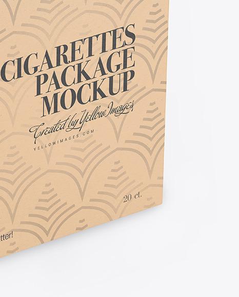 Kraft Cigarette Pack Mockup