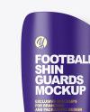 Matte Football Shin Guards Mockup
