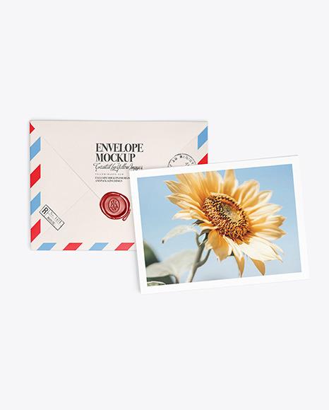 A5 Envelope and Card Mockup