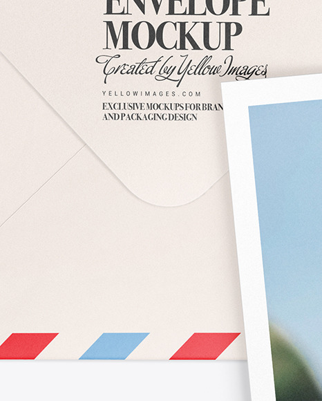 Download A5 Envelope And Card Mockup In Stationery Mockups On Yellow Images Object Mockups PSD Mockup Templates