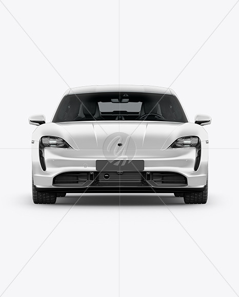 Electric Sport Car Mockup - Front View - Yellowimages Mockups