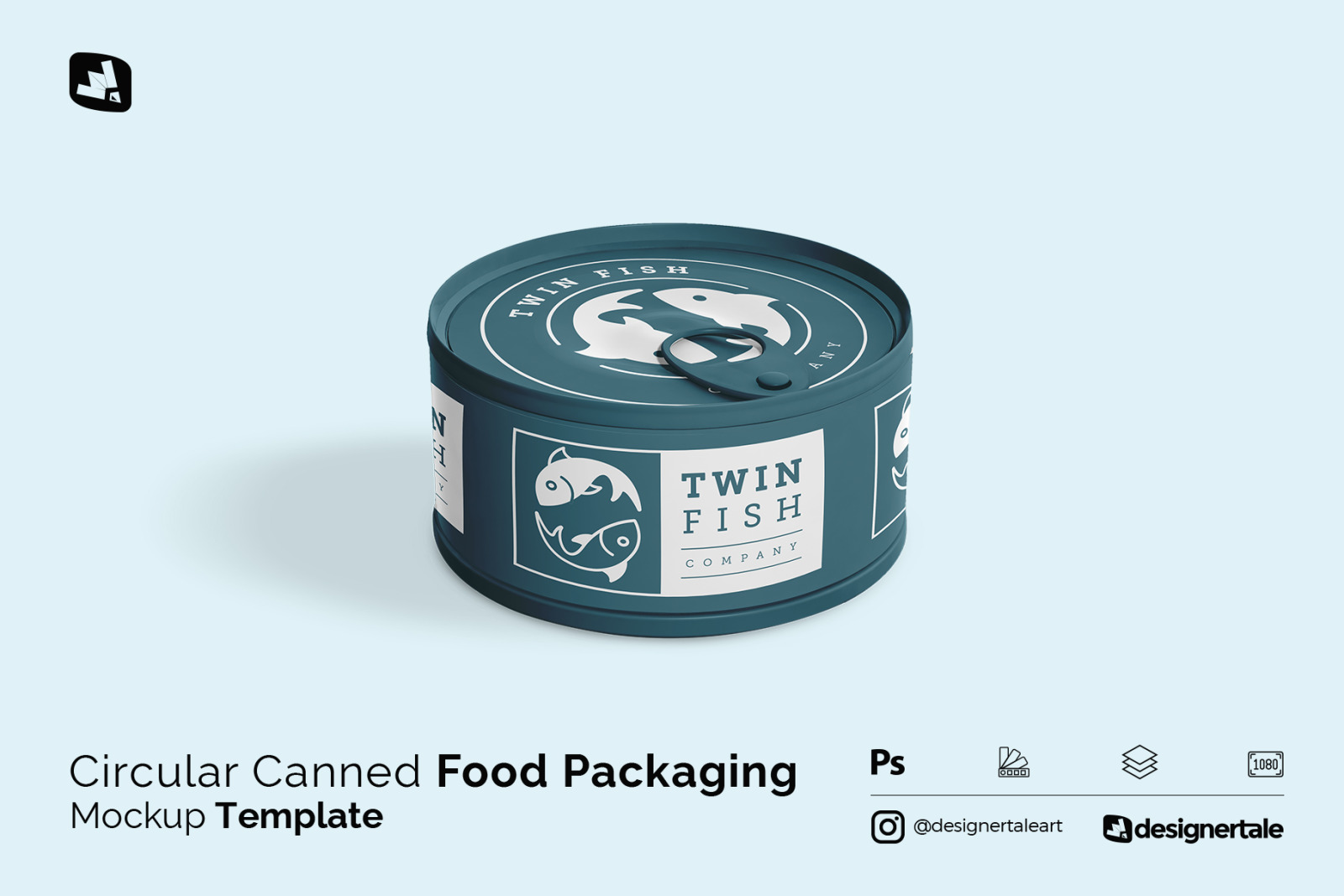 Download Circular Can Food Packaging Mockup In Packaging Mockups On Yellow Images Creative Store PSD Mockup Templates