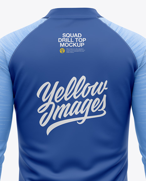 Men's Squad Drill Soccer Top - Back View - Soccer Training Jersey
