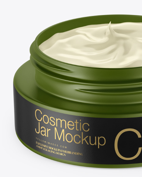 Download Matte Cosmetic Cream Jar Mockup PSD - Free PSD Mockup Templates