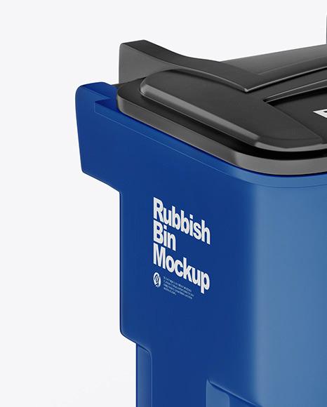 Glossy Rubbish Bin Mockup