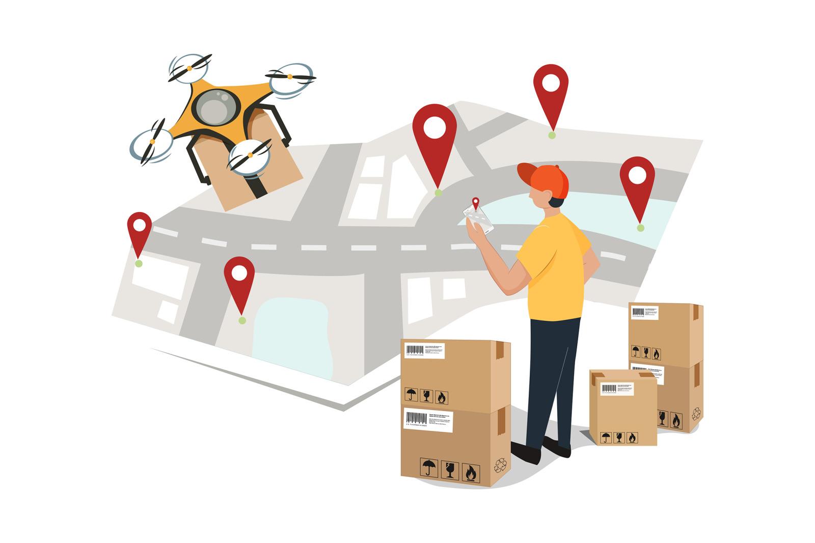 M92_Parcel Delivery Illustration