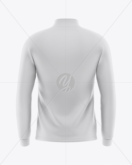 Men's  Raglan Quarter-Zip Pullover Mockup - Back View