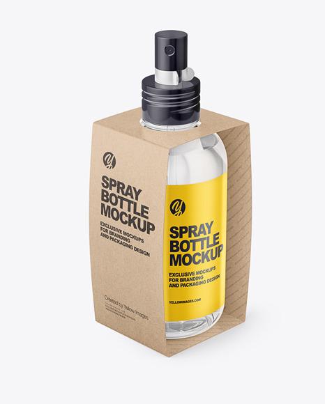 Download Glossy Spray Bottle Mockup Halfside View PSD - Free PSD Mockup Templates