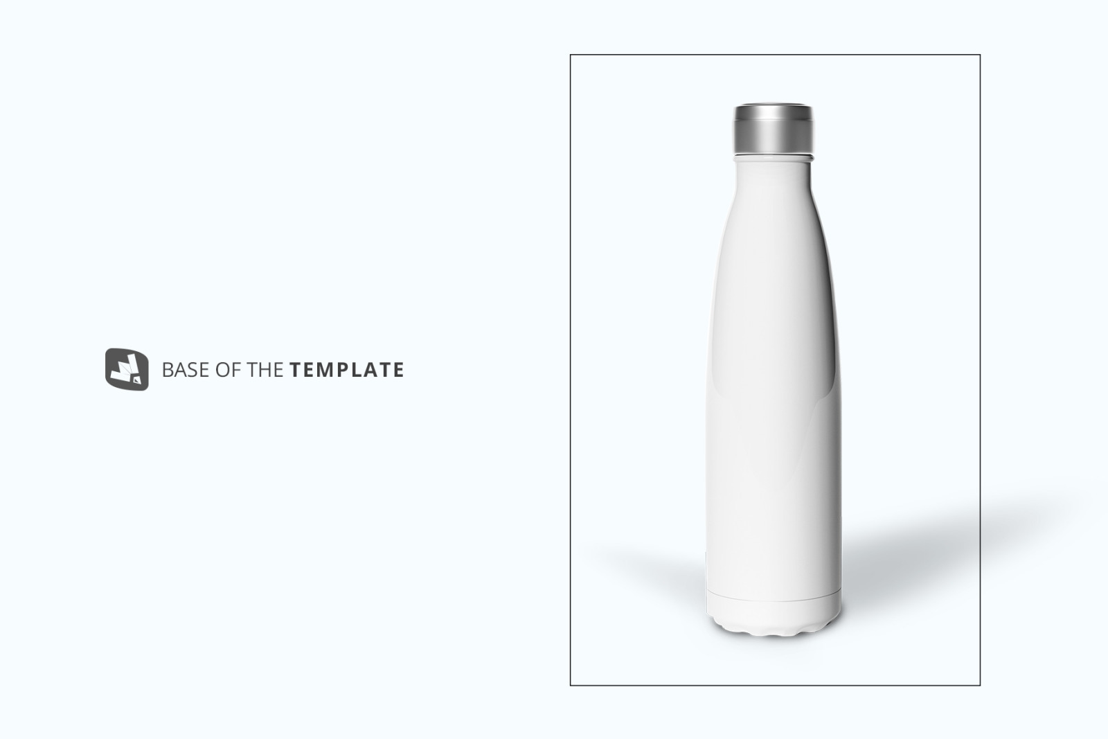 Steel Thermos Bottle Mockup