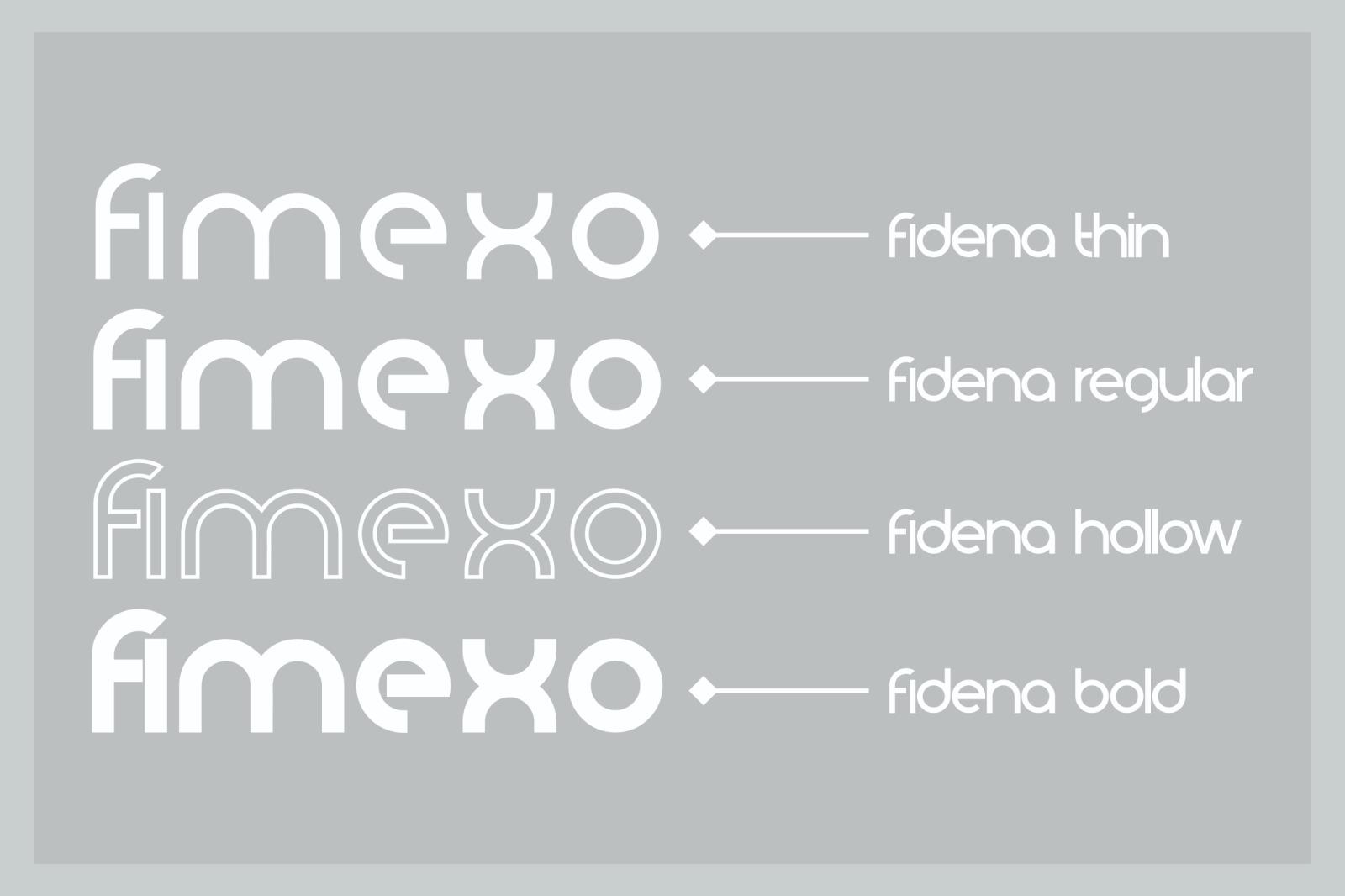 Fidena Family Font