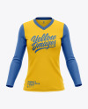 Women's Long Sleeve T-Shirt Mockup - Front View