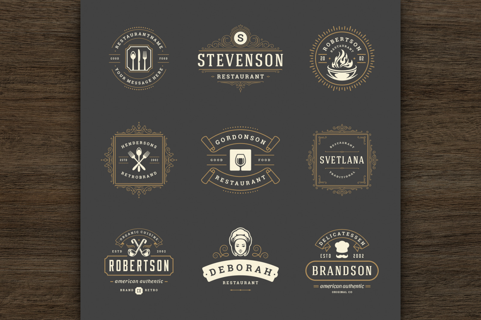 36 Restaurant Logos and Badges