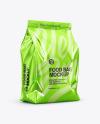 Glossy Metallic Food Bag Mockup - Half Side View