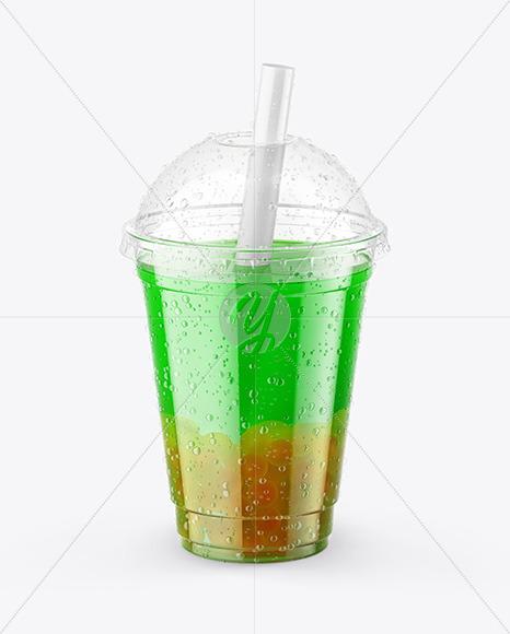 Download Fruit Bubble Tea Cup Mockup Free Mockups