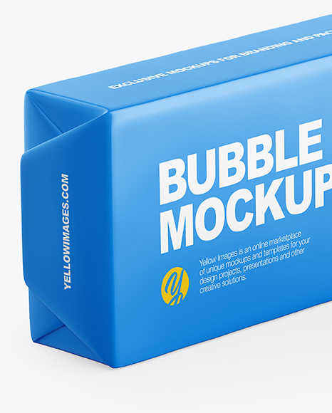 Download Chewing Bubble Gum Pads Matte Packaging Mockup Half Side View In Box Mockups On Yellow Images Object Mockups PSD Mockup Templates