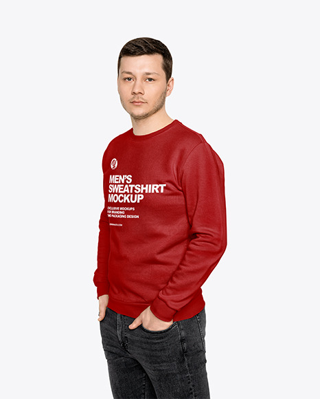 Man in a Sweatshirt Mockup