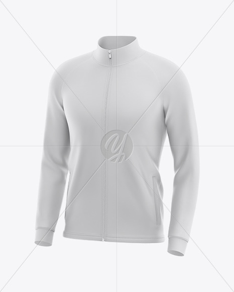 Men's Raglan Track Jacket Mockup