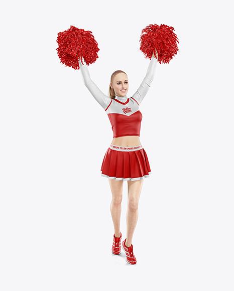 Cheerleader Girl Mockup