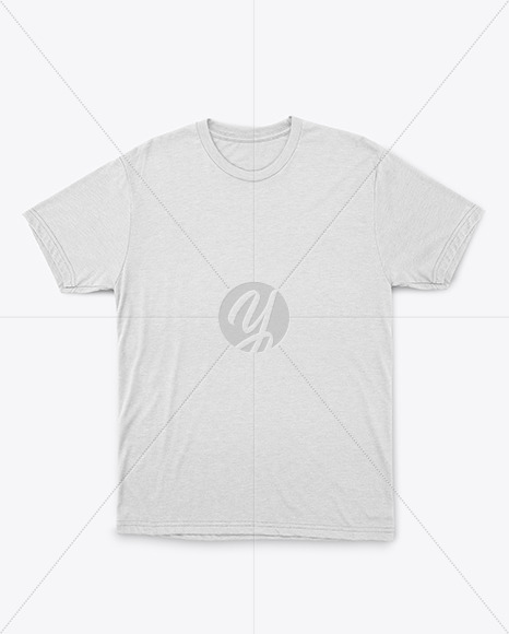 Melange T-Shirt with Round Neck Mockup