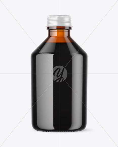 Cold Brew Coffee Bottle Mockup in Bottle Mockups on Yellow ...
