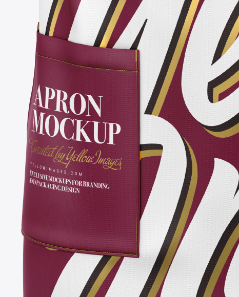 Download Apron Mockup Top View Yellowimages