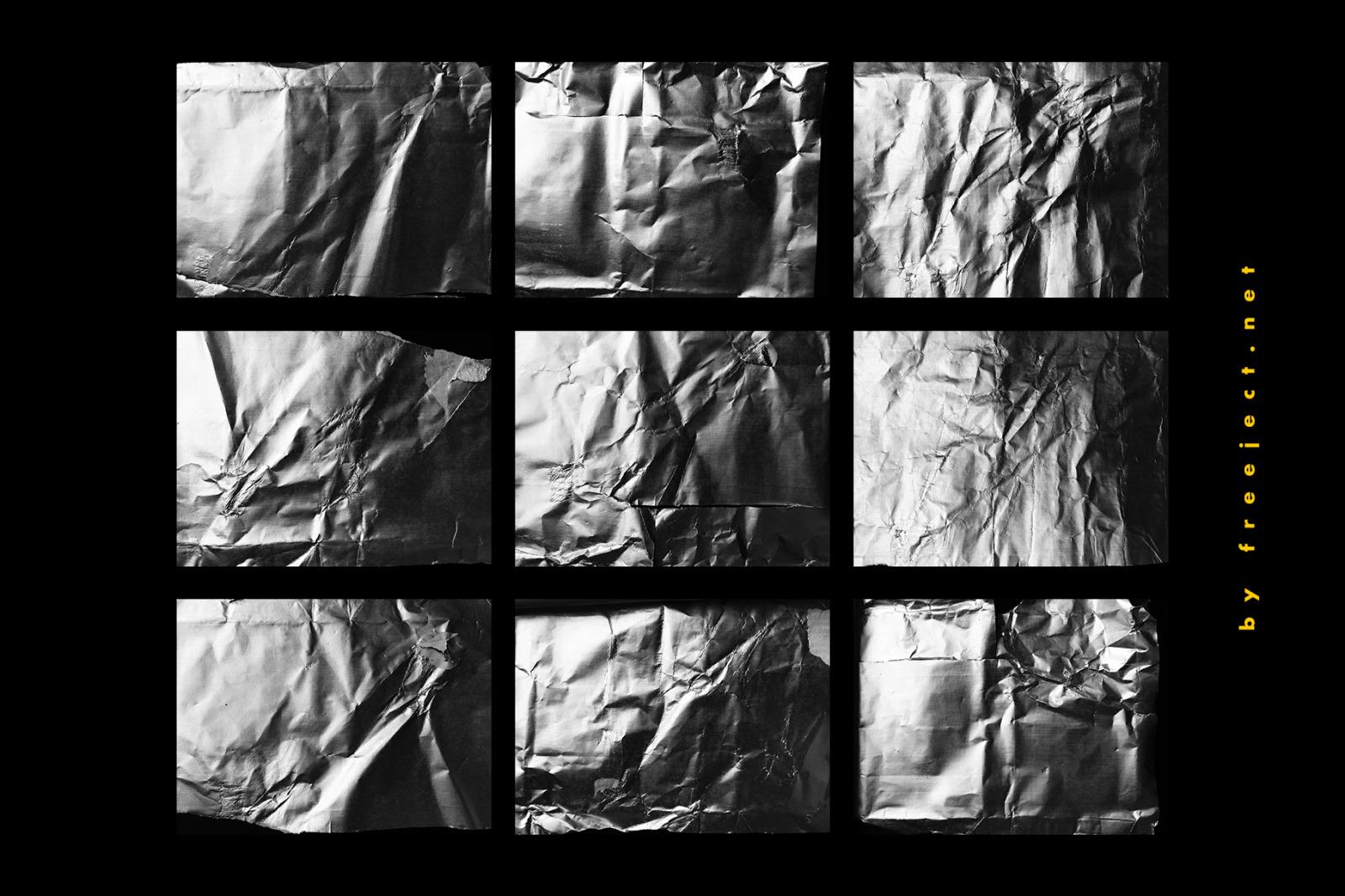 15+ Crumpled Foil Texture