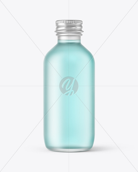 Frosted Glass Cosmetic Bottle Mockup