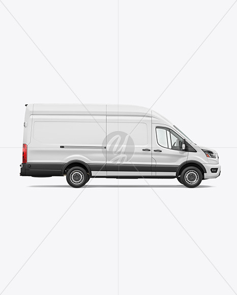 HQ Panel Van Mockup Right Side View - Yellowimages Mockups