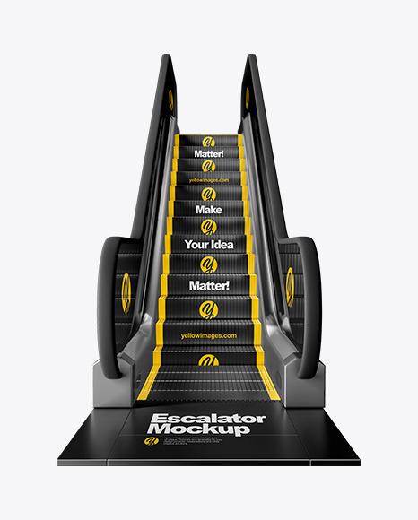 Escalator Mockup - Front View