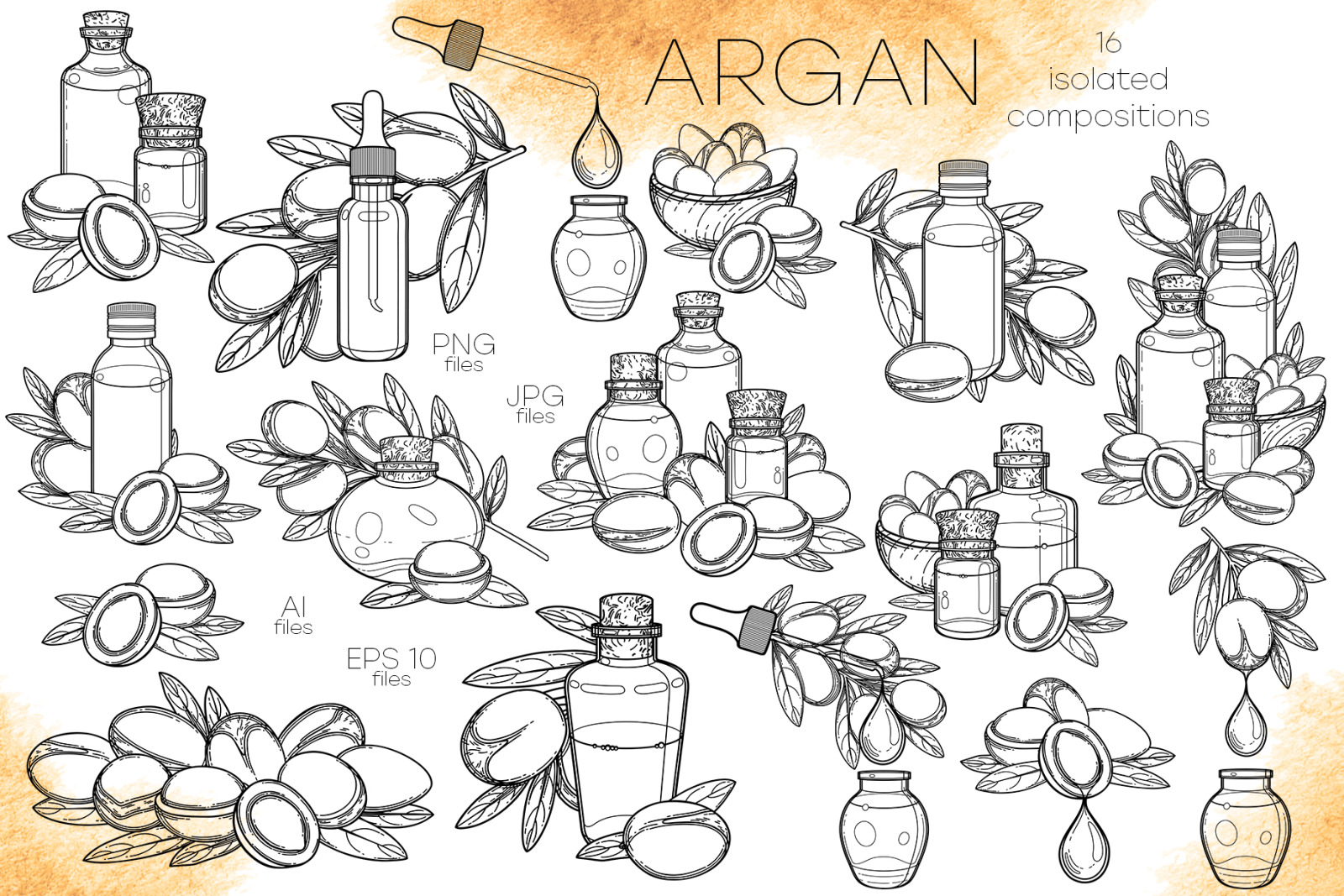 Argan - vector graphics