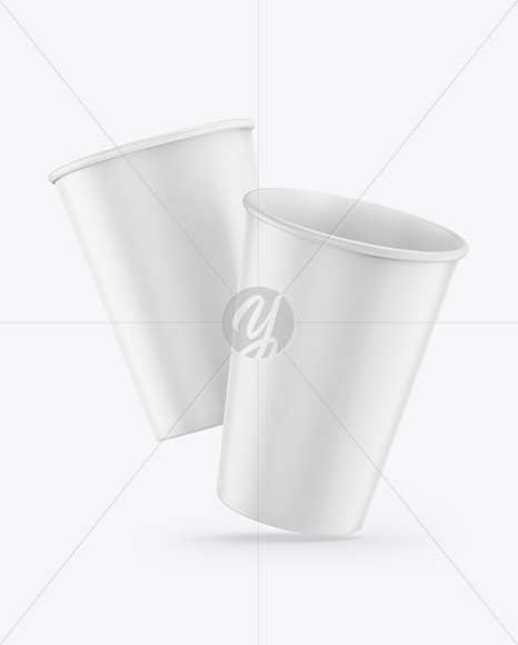 Download Two Glossy Paper Coffee Cups Mockup PSD - Free PSD Mockup Templates