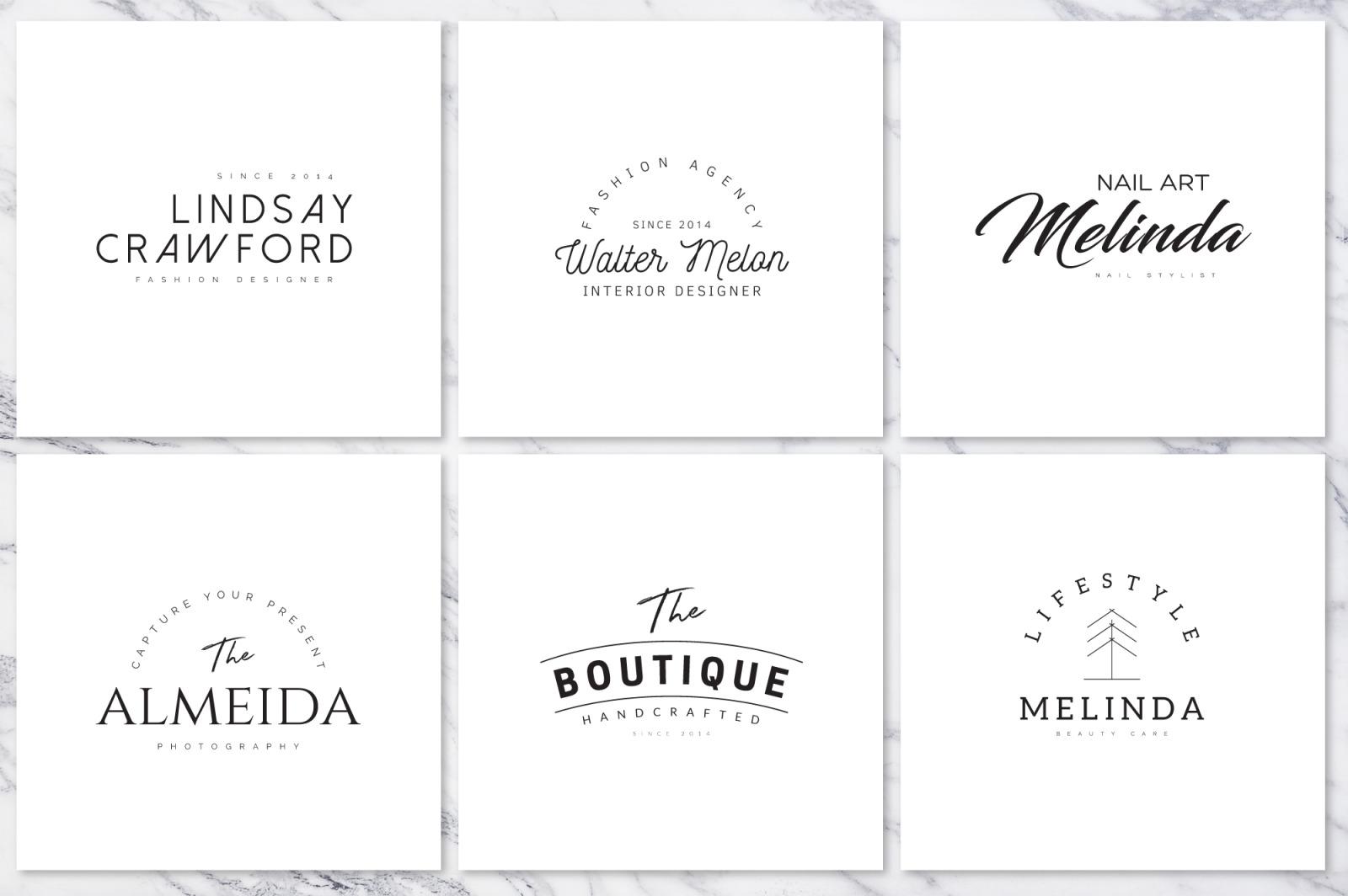 120 Elegant Premade Logo Pack